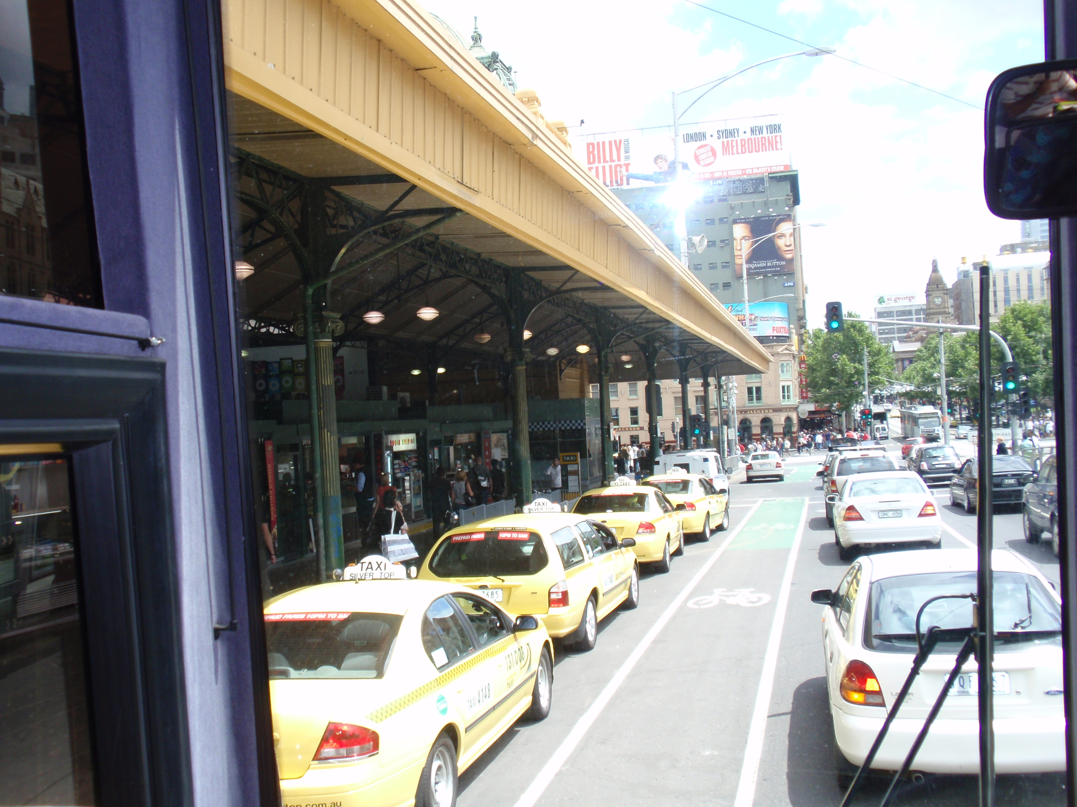 """Another busy day at Flinders Street!"""