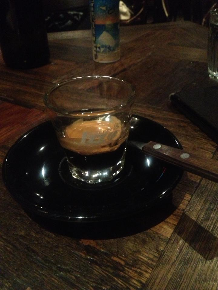 """""""Don't forget the espresso!""""  Or as the Aussies call it, a """"Short Black""""."""