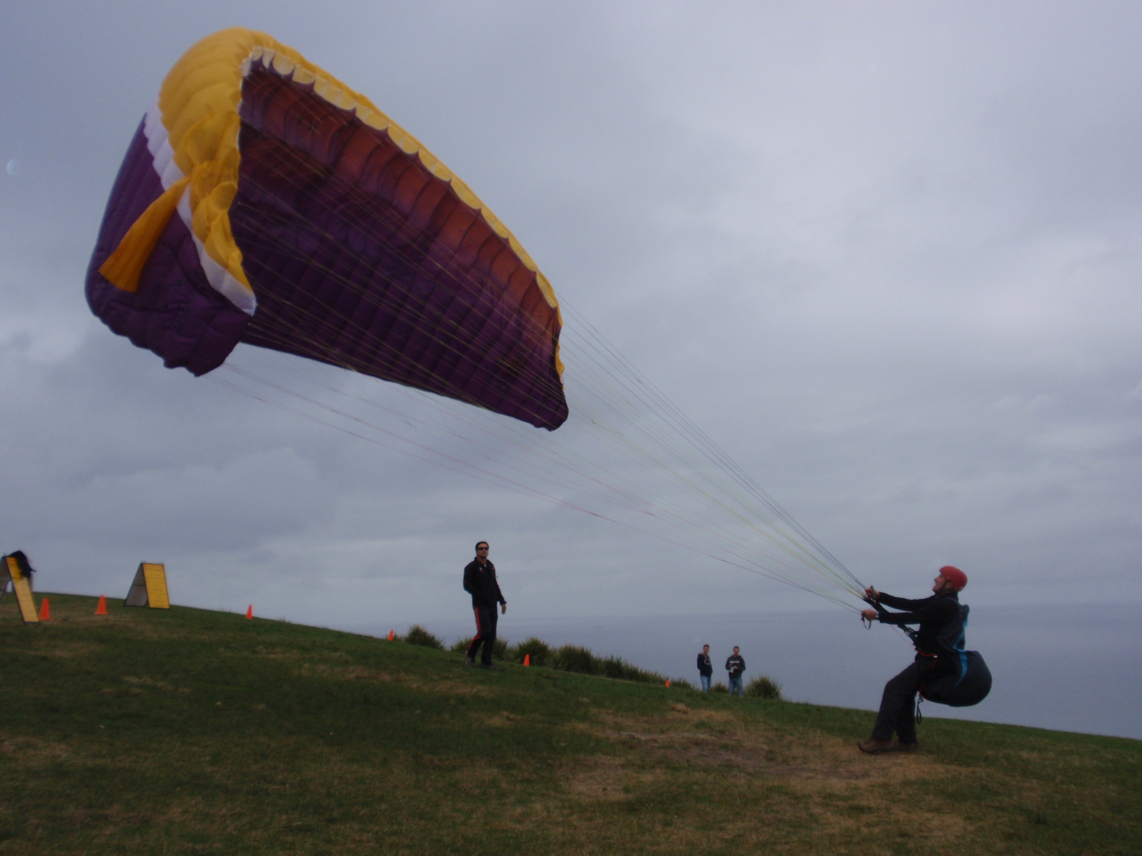 """Taking flight over Stanwell Tops!"""