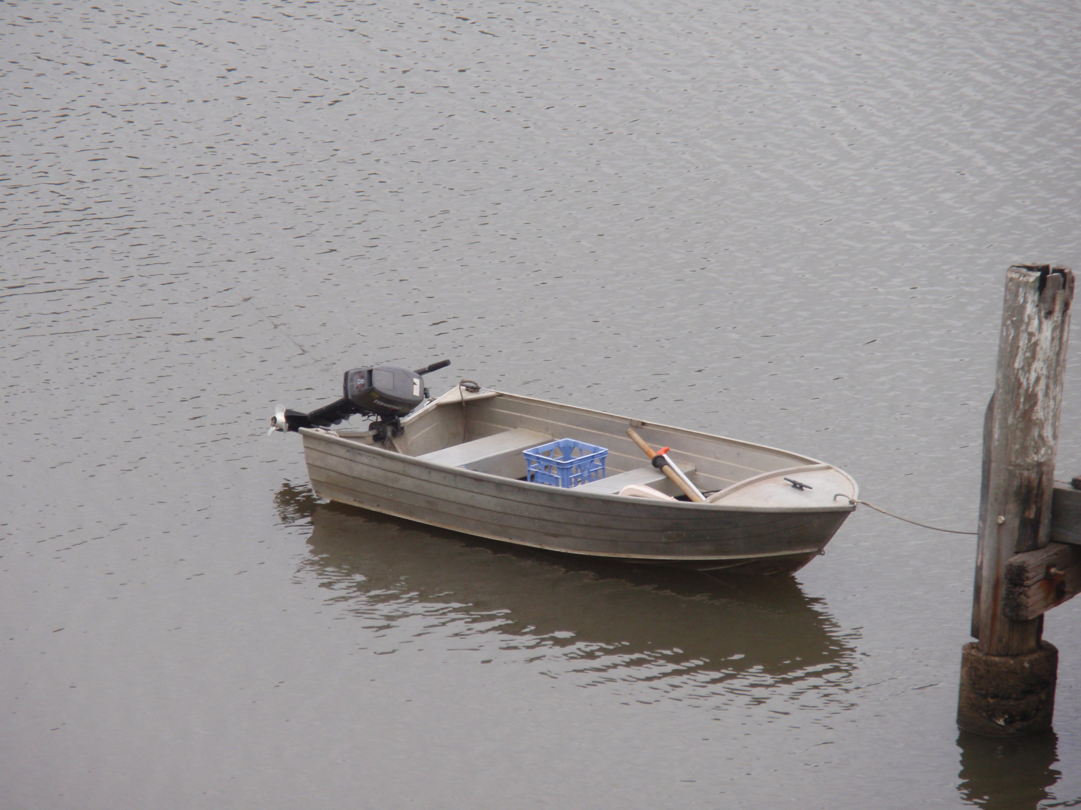 """A """"tinny"""": the main mode of transportation among Hawkesbury River locals!"""