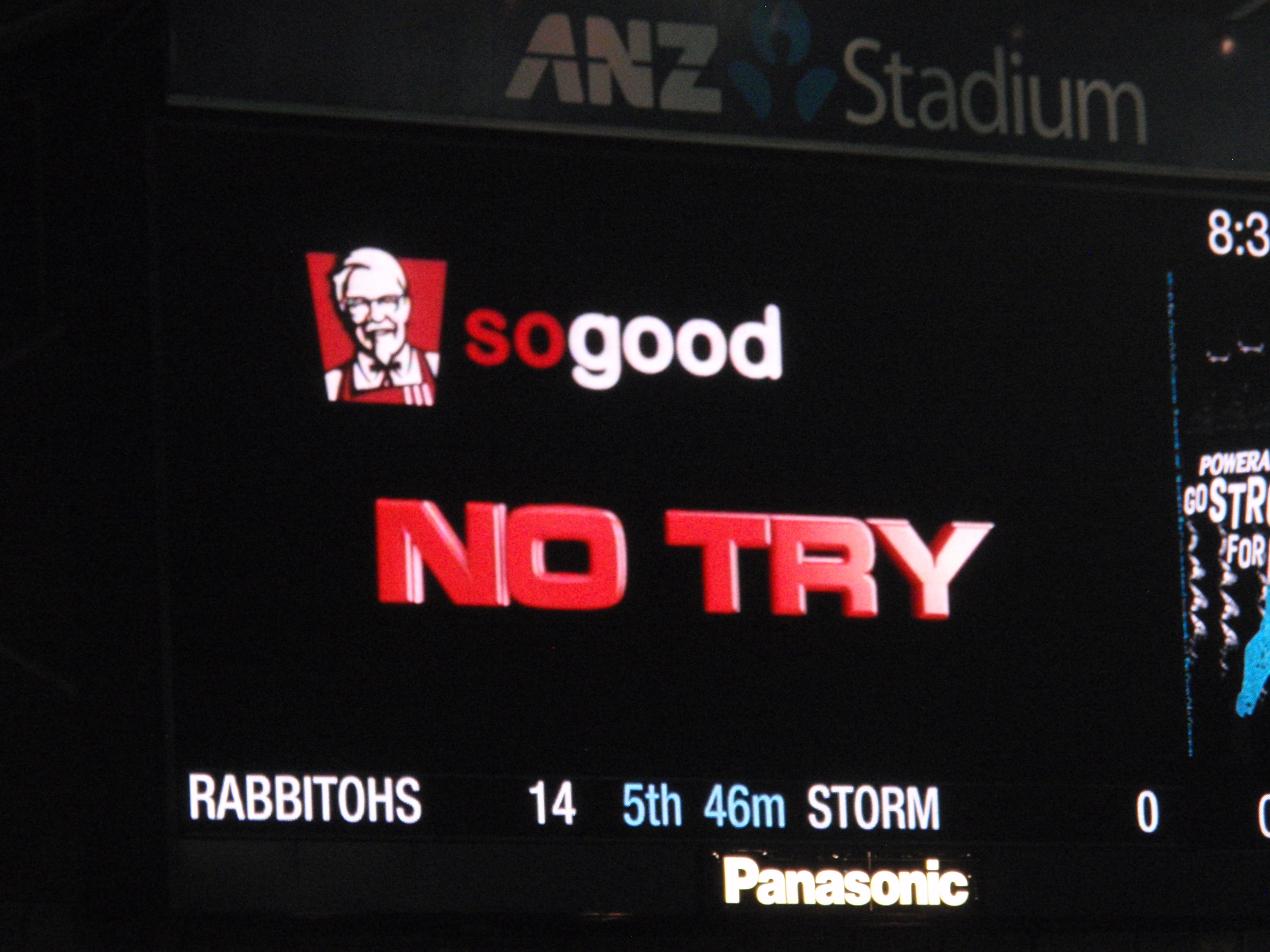 Relax, Bunnies.  The Storm were the ones who were denied a try!