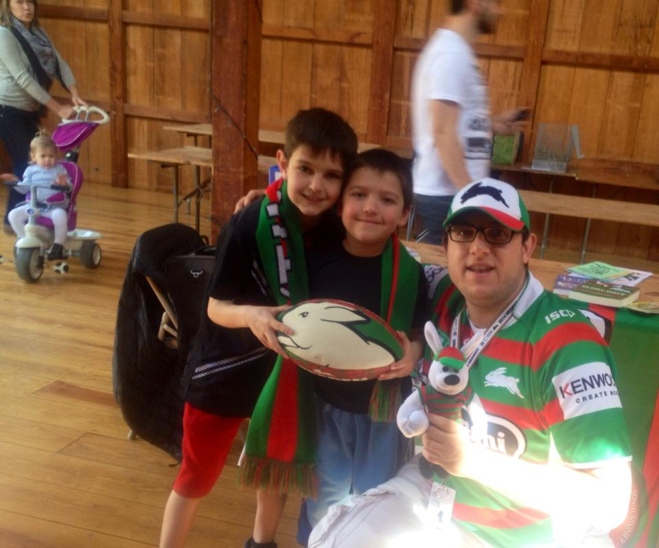 """A few new future members of the Rabbitohs!"""