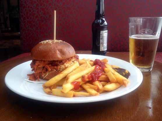 Pulled Pork Roll and Chips