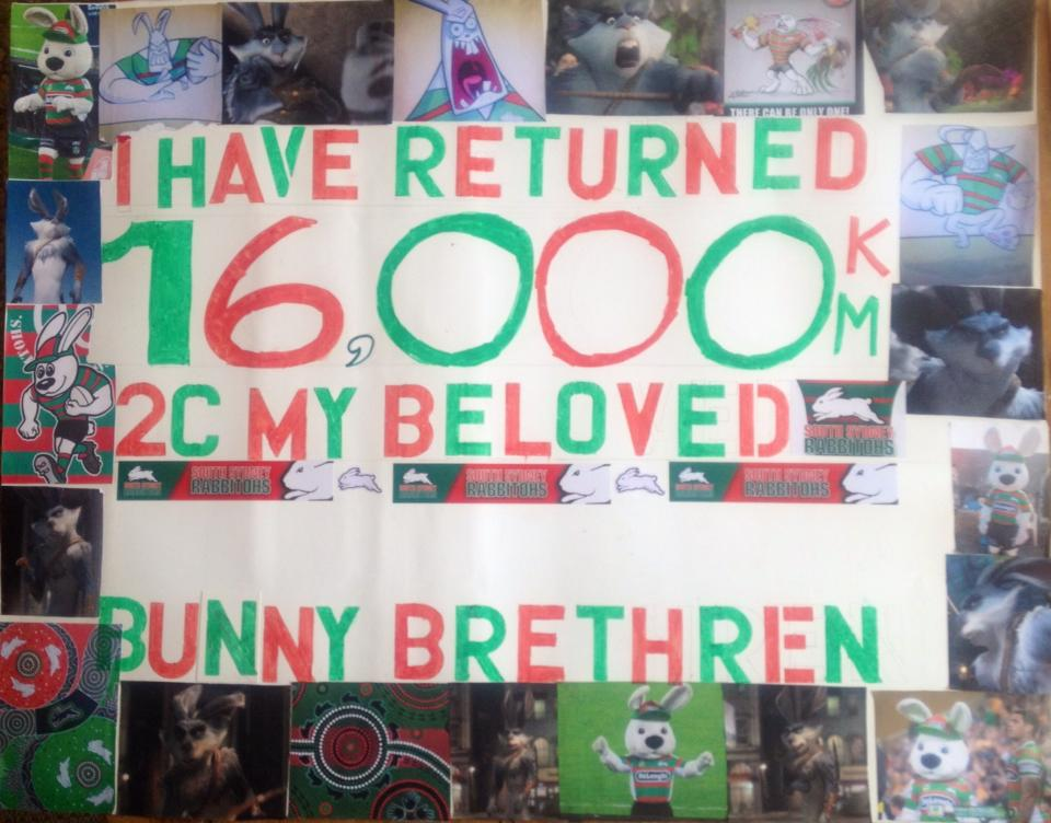 """I have returned 16,000 km to see my beloved bunny brethren!"""