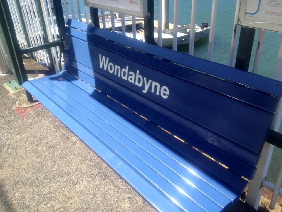 """Wondabyne is a great place to have a seat!"""