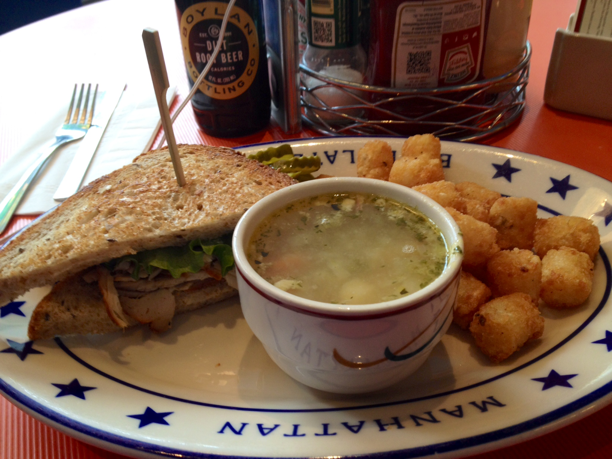 Soup, Sandwich, and Tots