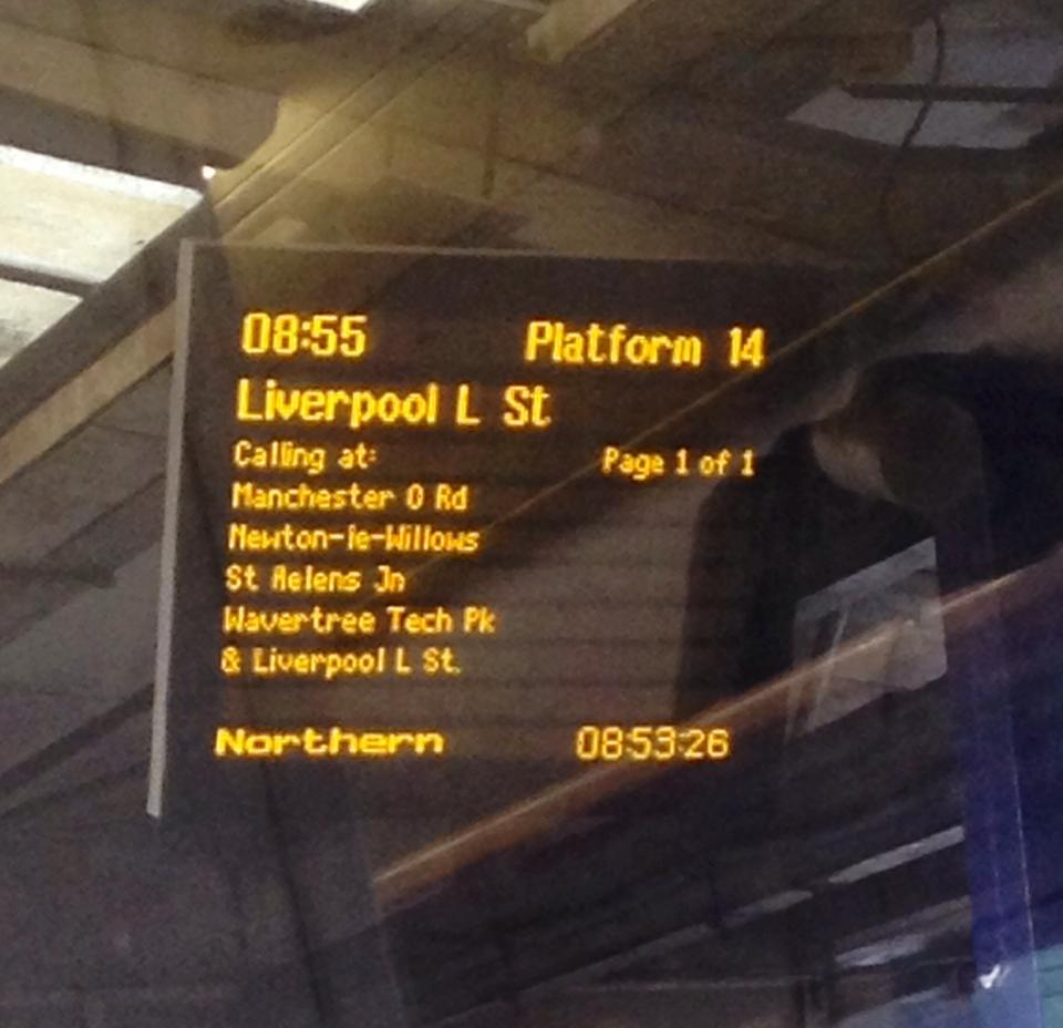 """""""Does this train go to Liverpool Lime Street?"""""""