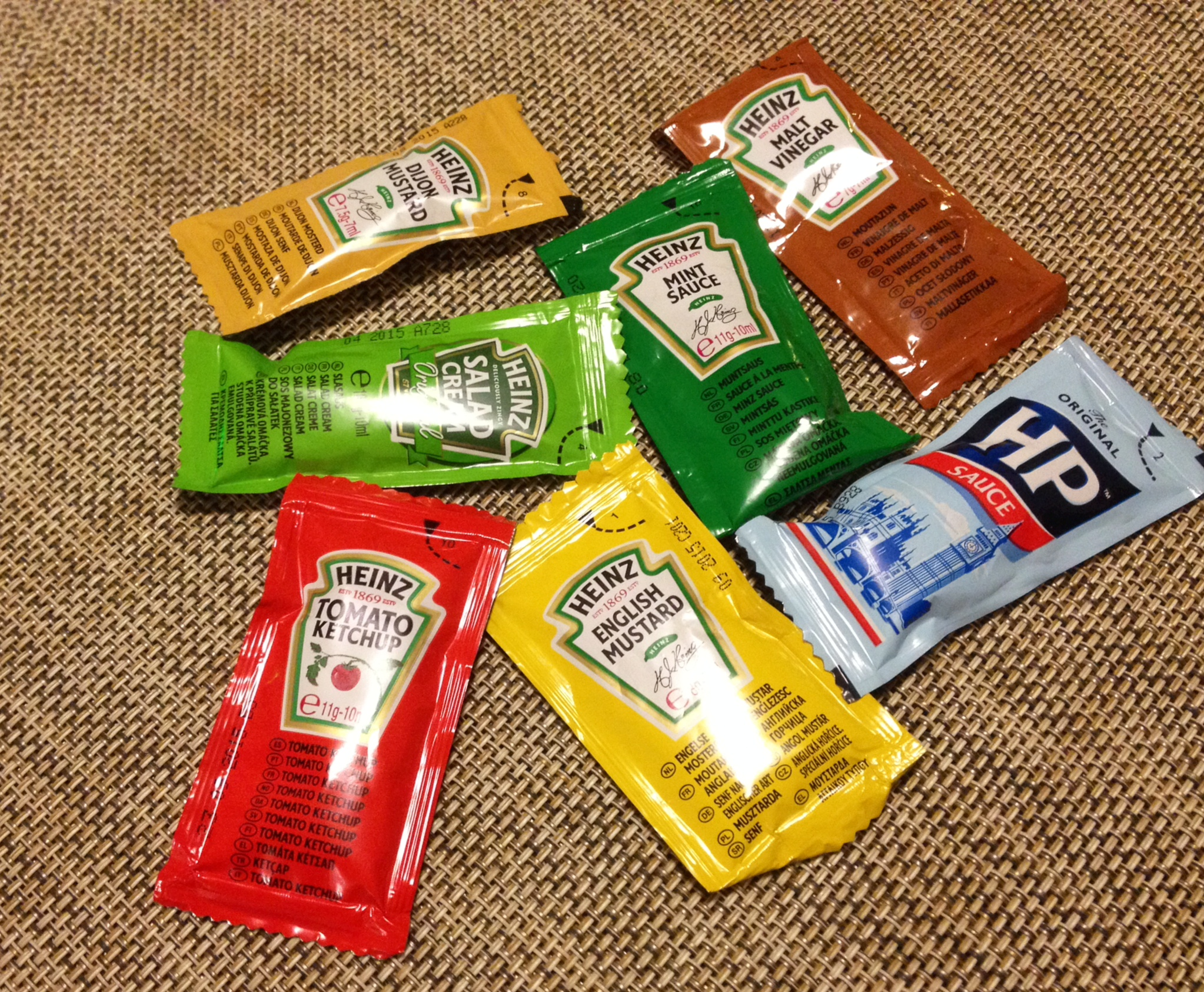 All the condiments in all the colors of the rainbow!