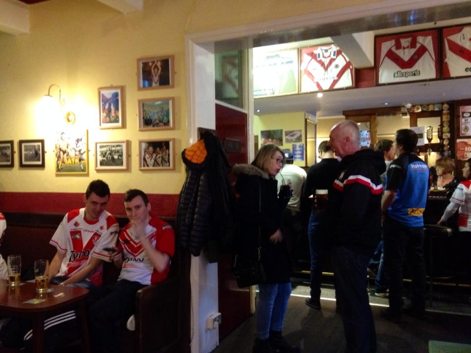 In the throng of St. Helens footy fans!