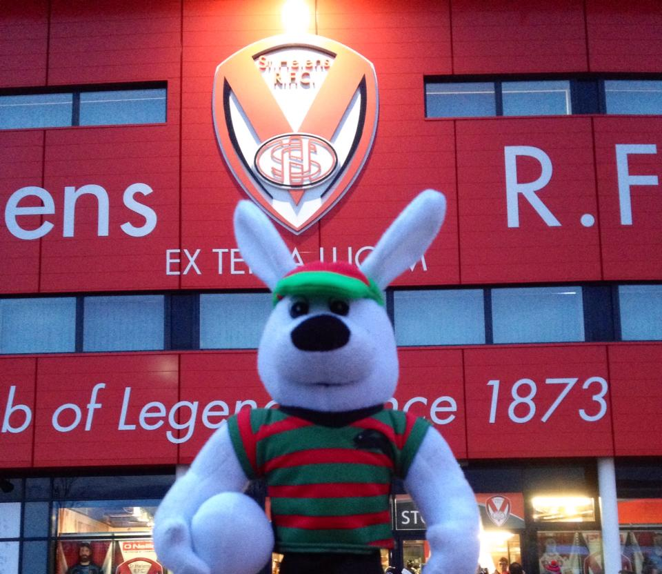 Reggie popped out his rabbit hole and has arrived at Langtree Park!