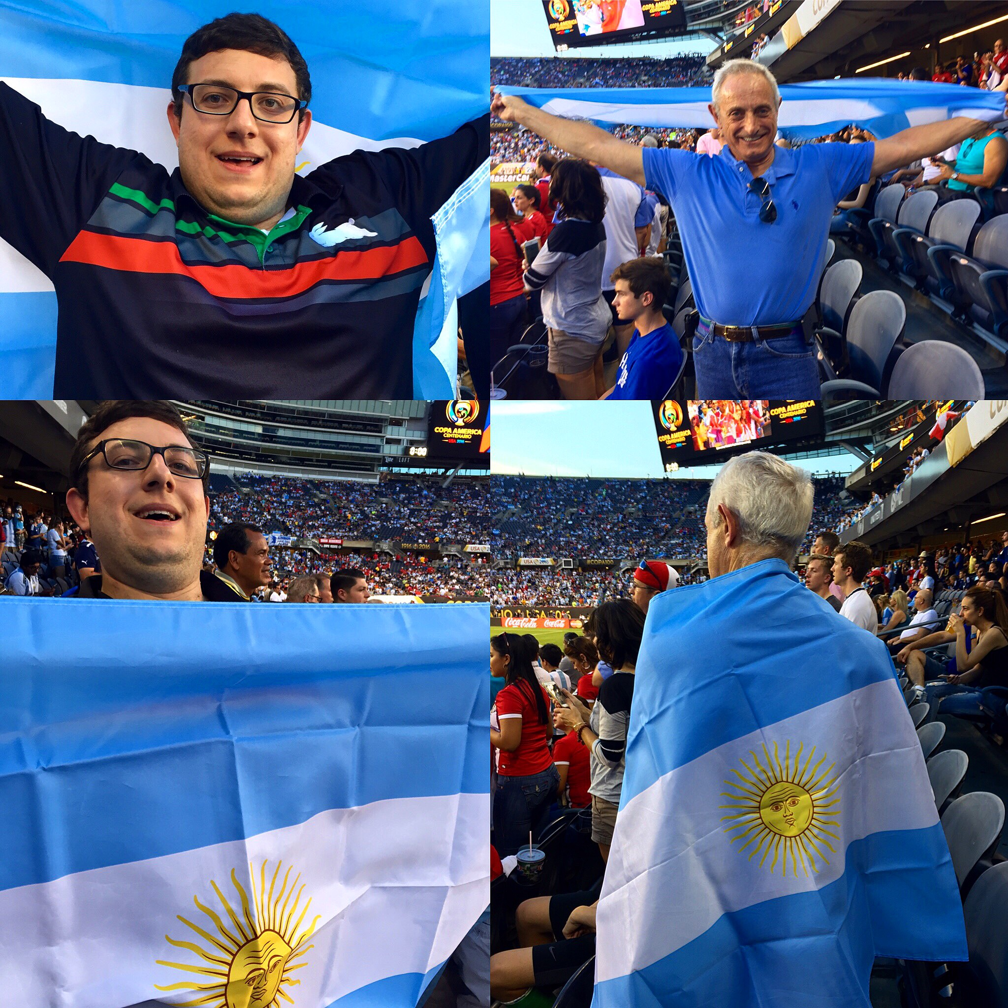My father and I showing off our Argentinian side at Soldier Field.