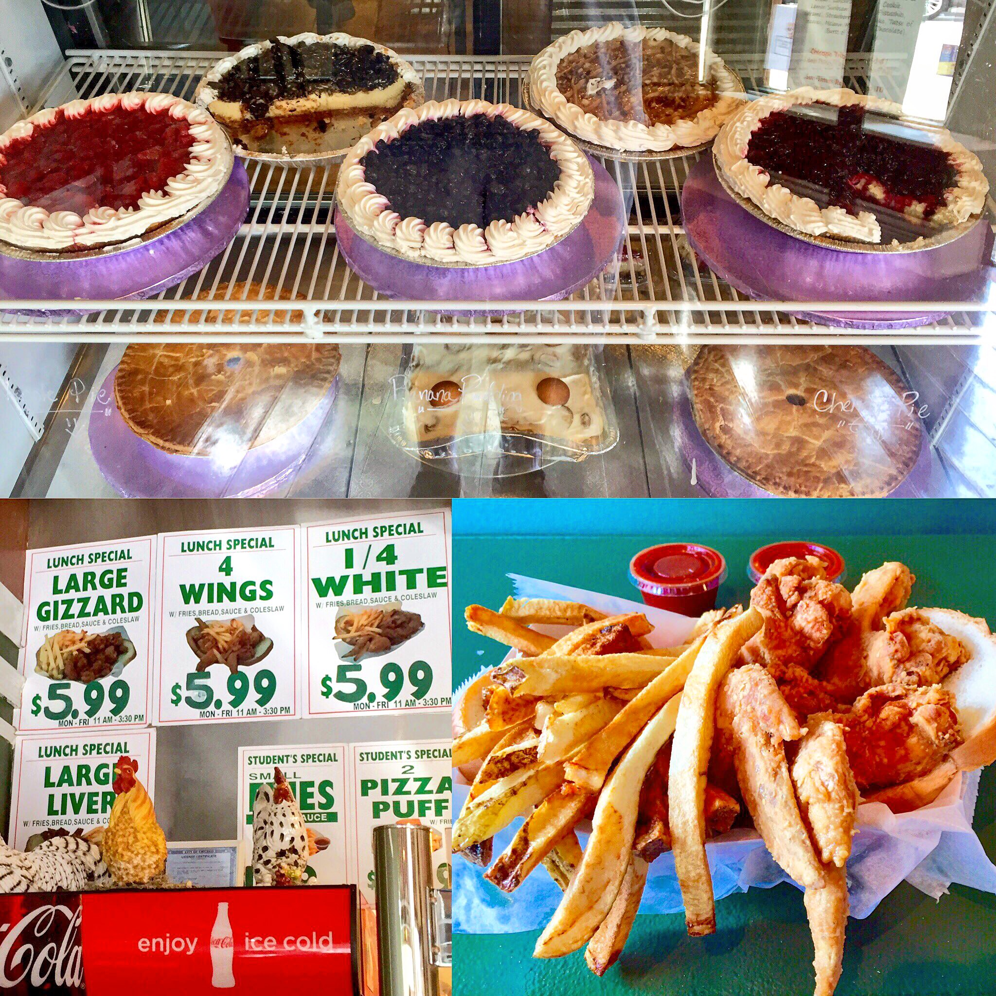 Pies, Fried Chicken, Fries, and Ice Cream... OH MY!