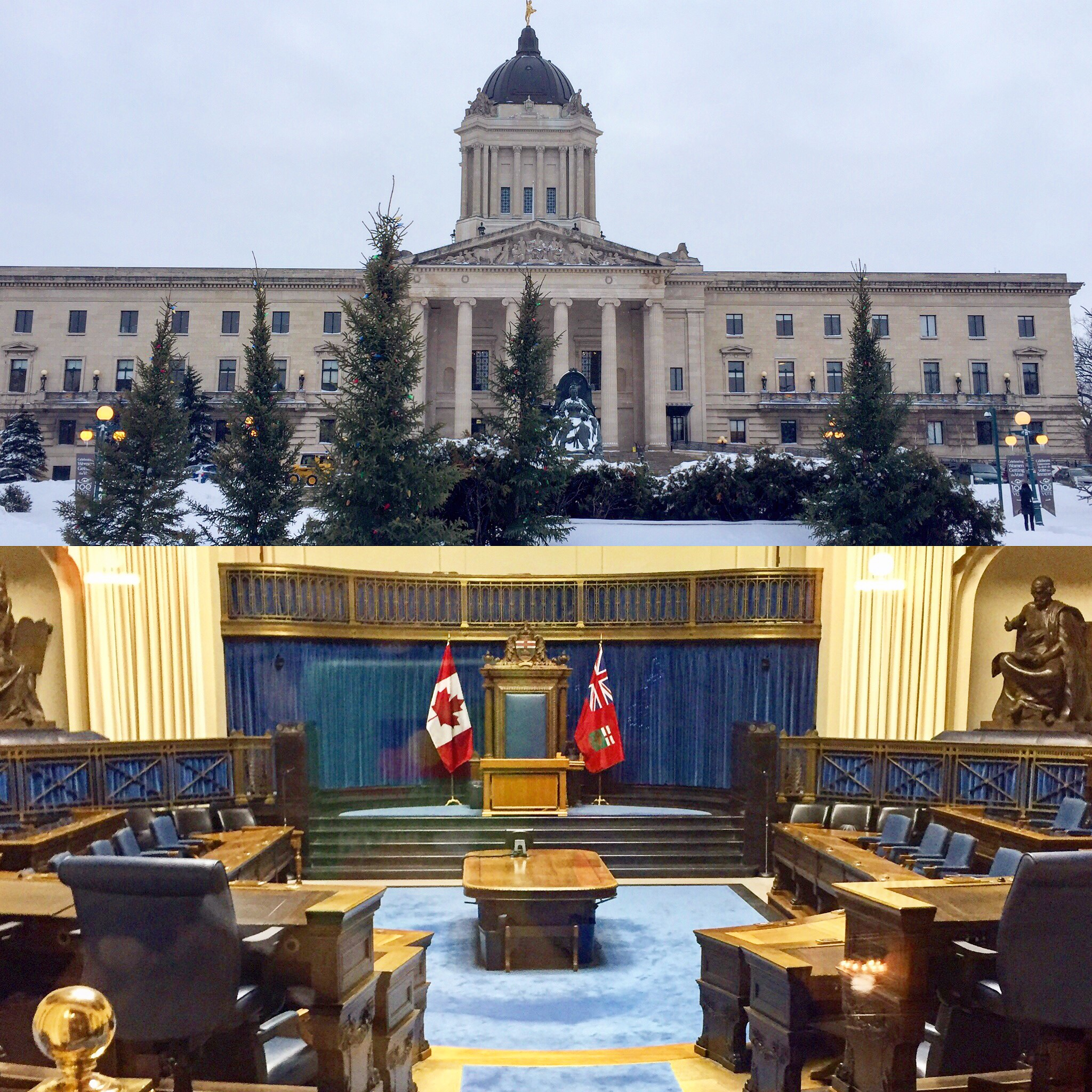 The Winnipeg Legislature: The Seat of Manitoba's Power.